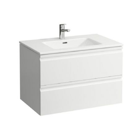861963 - Laufen Pro S Slim 800mm x 500mm Washbasin & Pro S Vanity Unit with 2 Drawers - 8.6196.3